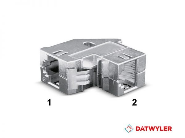 acoplador, datwyler, RJ45 Feed-through coupler (1)