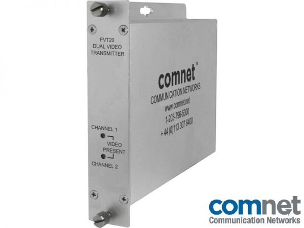 Transmisor video dual Electronica red COMNET FVT20